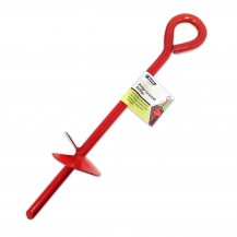 14218 - large red screw peg with label